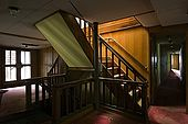 Stairs down to the living quarters on Galeb, Tito's old luxury yacht, Rijeka, Croatia