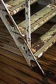 Stairs between two levels on the deck of Galeb, Tito's old luxury yacht, Rijeka, Croatia