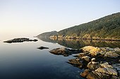Sunrise on the North Sea in Lindesnes Norway