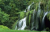 Cascade of Baume les Messieurs in the Jura France