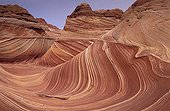Eroded sandstone cliffs in Paria Canyon Utah United States