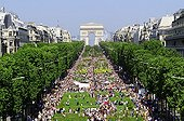 "Visitors 'Nature Capital' on the Champs-Elysees Paris ; endorsed: ""Nature Capital - a creation of Gad Weil"""