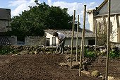 Digging up of a kitchen garden in spring