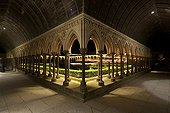 Cloister Mont Saint Michel at night France