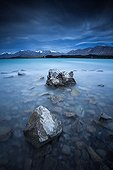Lake Tekapo - Southern Alps New Zealand ; Lake turquoise color due to suspended sediment in the water.