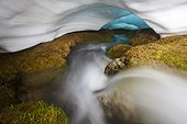 River under the snow at spring - Guadarrama Spain